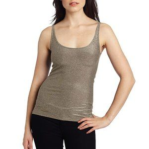Only Hearts NYC Metallic Gold Shimmer Jersey Tank